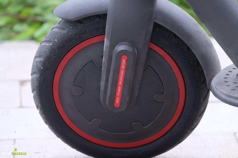test xiaomi mi scooter pro roue