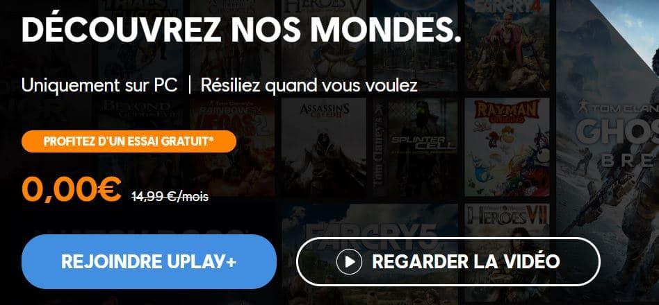 uplay plus gratuit
