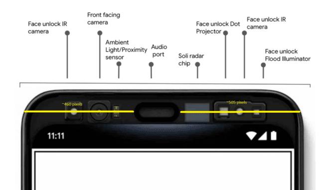 Reconnaissance faciale Google Pixel 4
