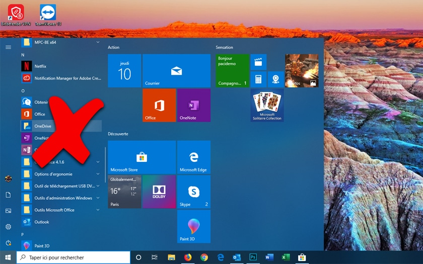Desinstaller OneDrive Windows 10