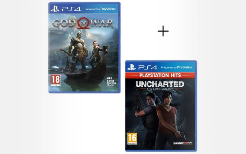 Pack jeux PS4 : God of War + Uncharted The Lost Legacy PlayStation Hits à 24,99€