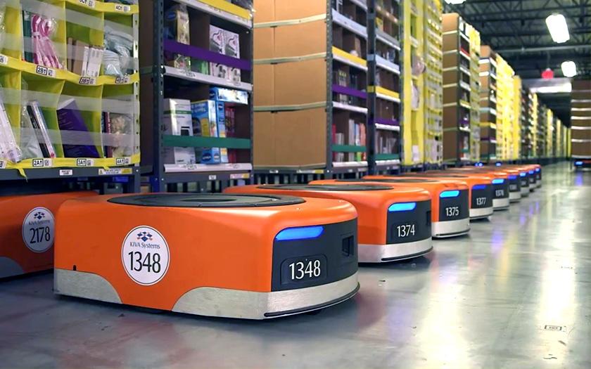Entrepôt Amazon robotisé