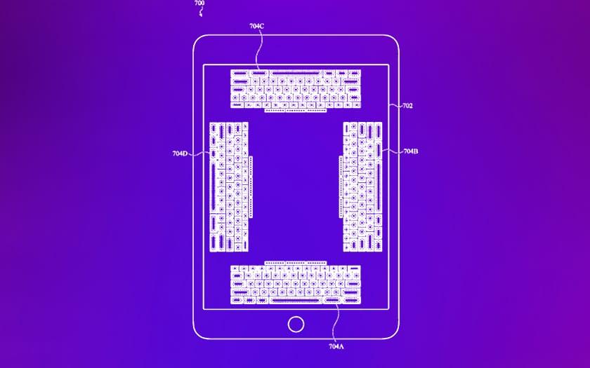 Apple brevette un clavier virtuel qui se prend pour un clavier physique