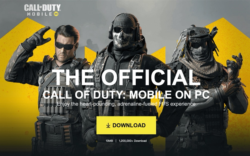 Le jeu Call of Duty Mobile est disponible