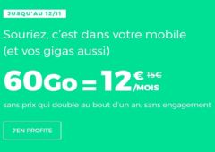 forfait mobile SFR Red 60 Go