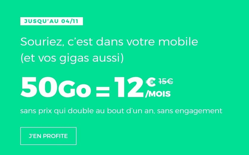 Forfait mobile Red by SFR de 50 Go à 12 €