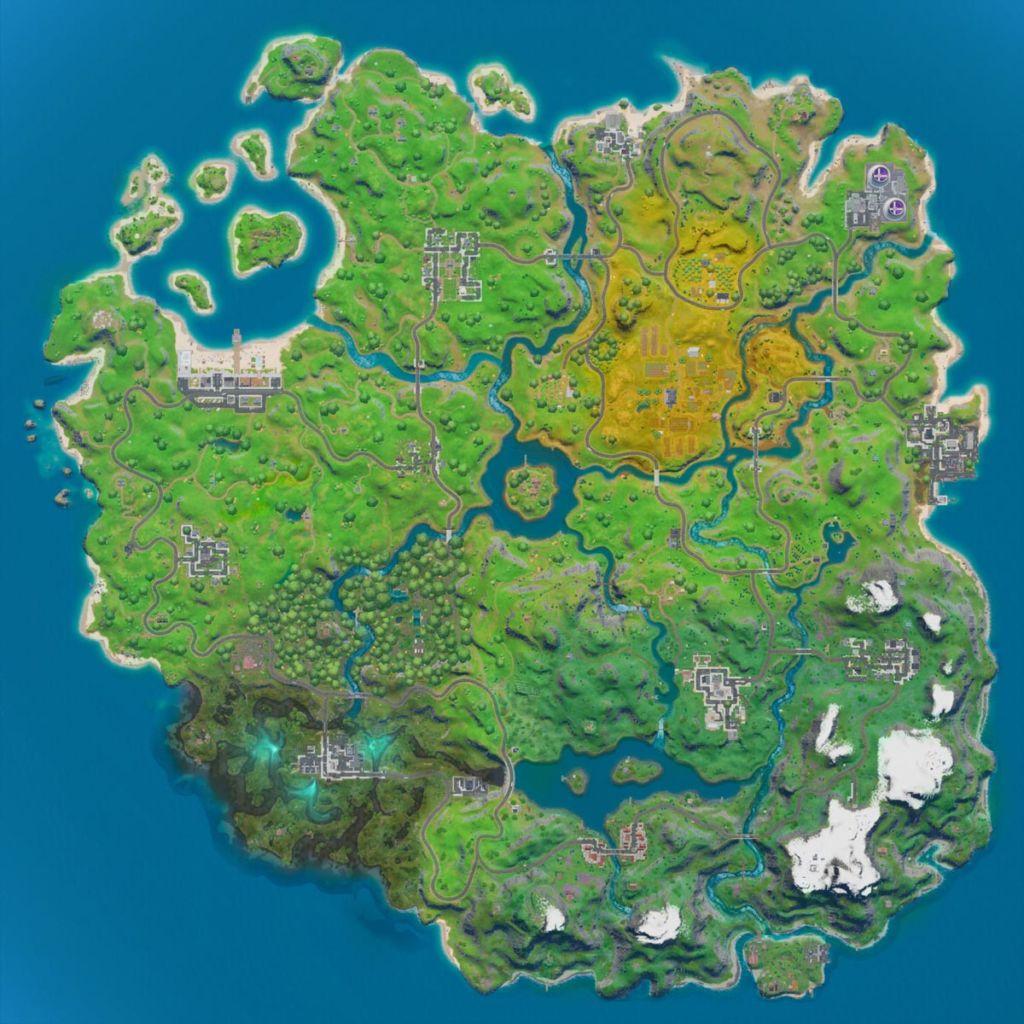 Carte Fortnite chapitre 2