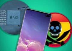 galaxy s10 faille iphone 11 benchmark chrome bloque zone téléchargement
