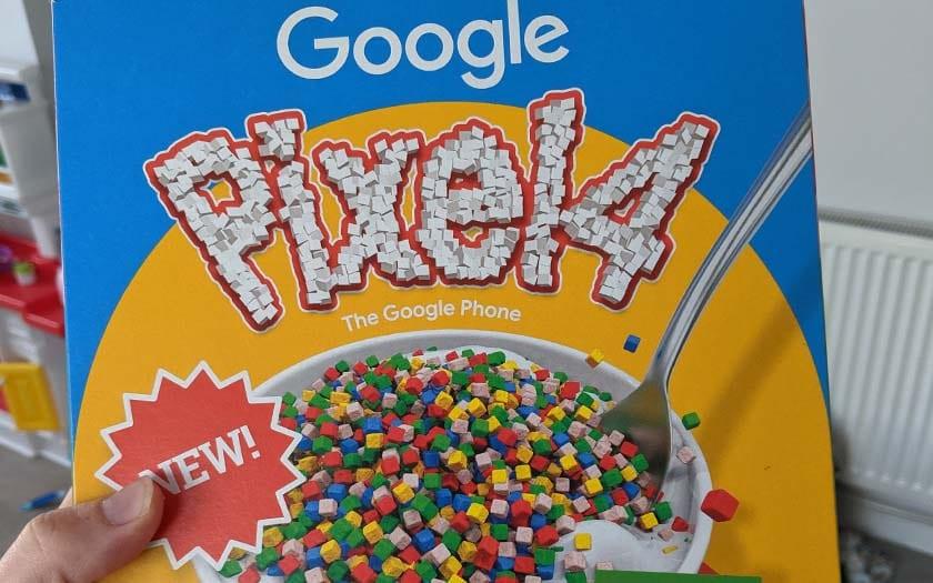 google pixel 4 boîte céréales