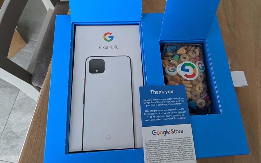 google pixel 4 céréales
