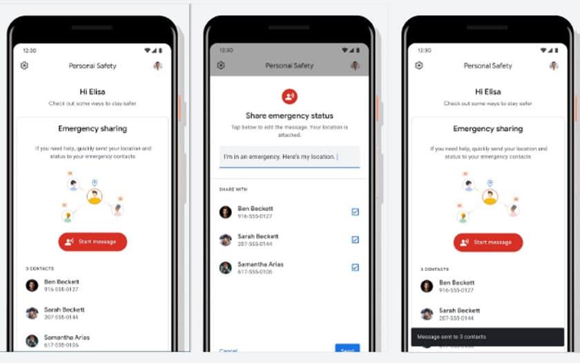 Google Pixel 4 et 4XL : détection des accidents