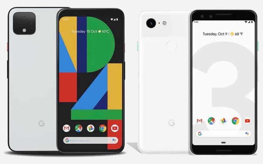 Comparatif Google Pixel 4 et Pixel 3