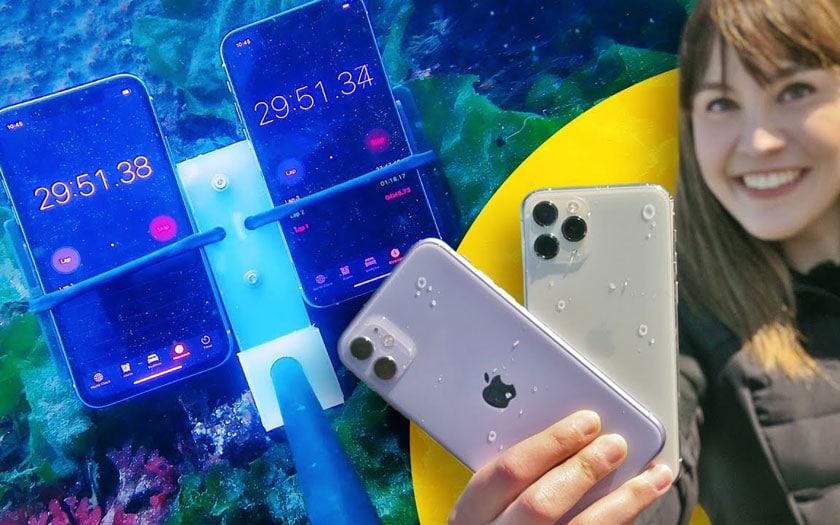 iPhone 11 et 11 Pro : test de résistance à l'eau