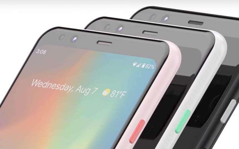 pixel 4 face unlock et les trois coloris du smartphone