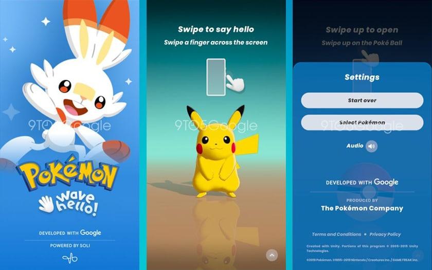 Le jeu Pokémon Wave Hello qui doit être lancé sur le Pixel 4