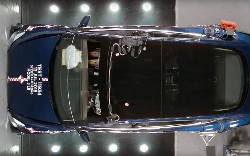 tesla model 3 crash test officiel vidéo
