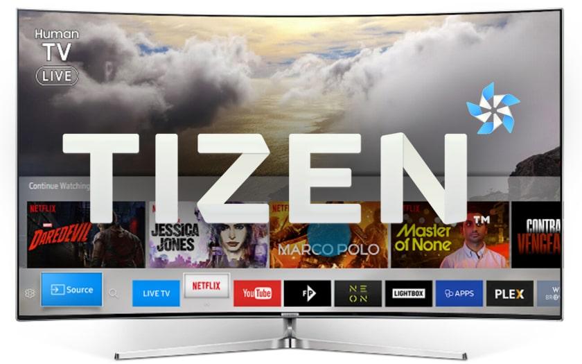 TV Samsung avec Tizen OS