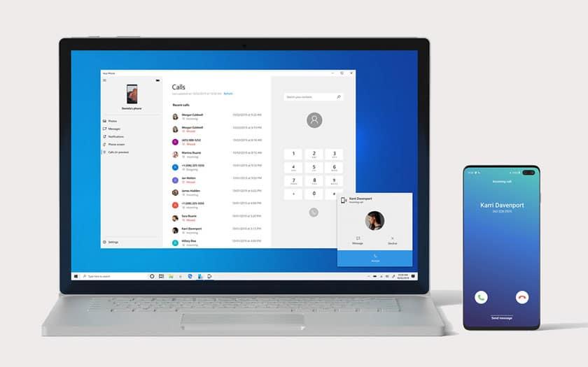 Windows 10 peut gérer les appels téléphoniques