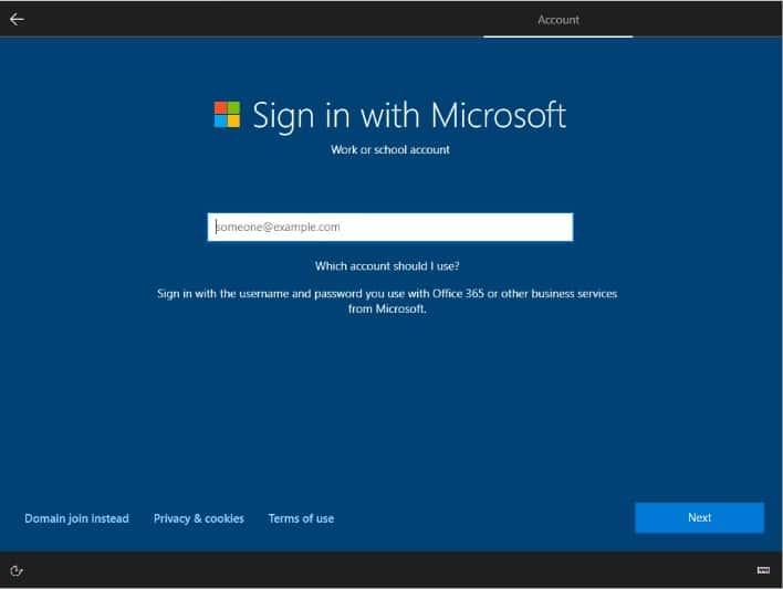 Microsoft cache l'option pour créer un compte local