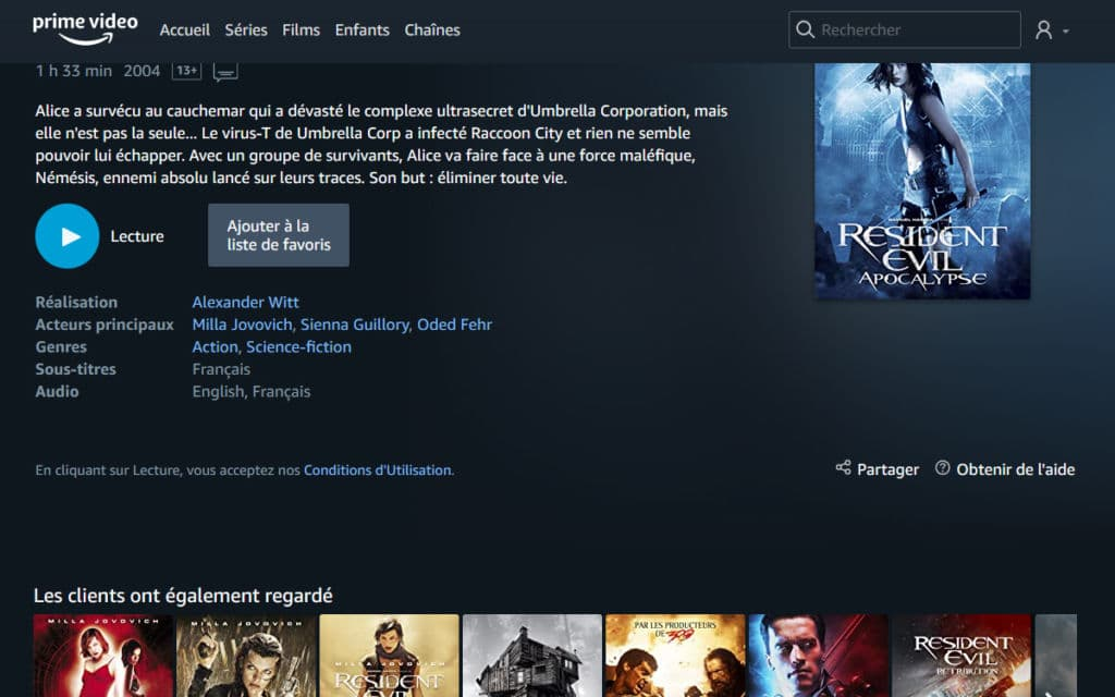 Amazon Prime Video Resident Evil