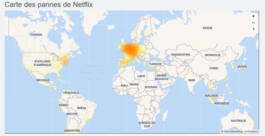 DownDetector Panne Netflix