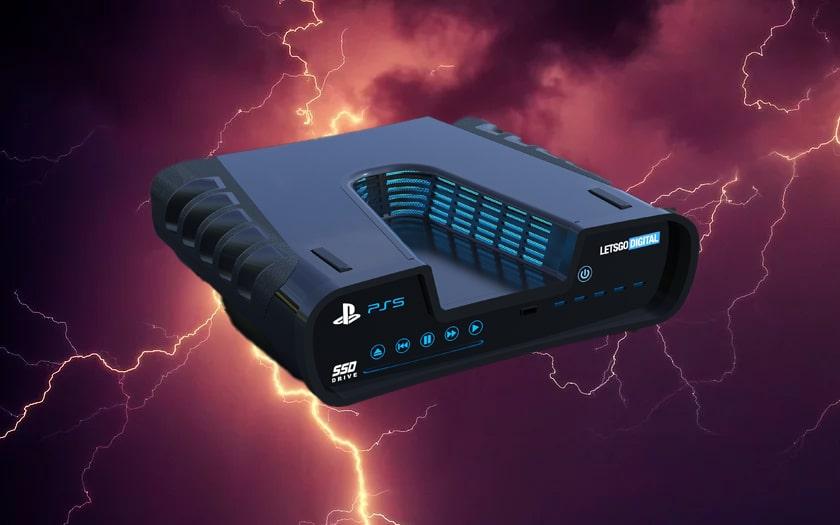 image d'éclair et schéma PS5