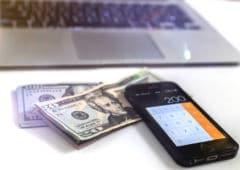 Smartphone Vol argent compte bancaire