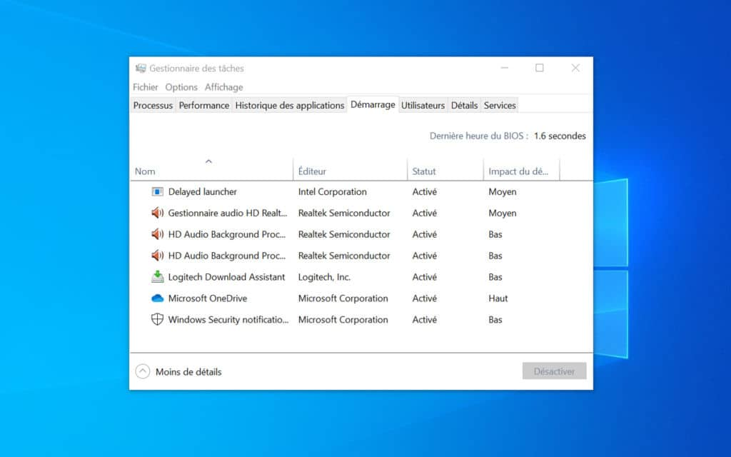 Windows 10 lent comment accelerer demarrage