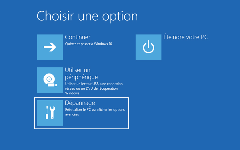 Windows 10 Mode Sans Echec