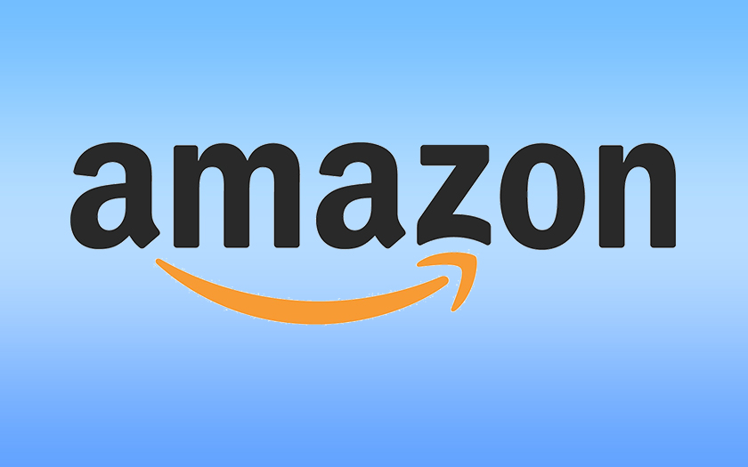logo amazon et fond coloré