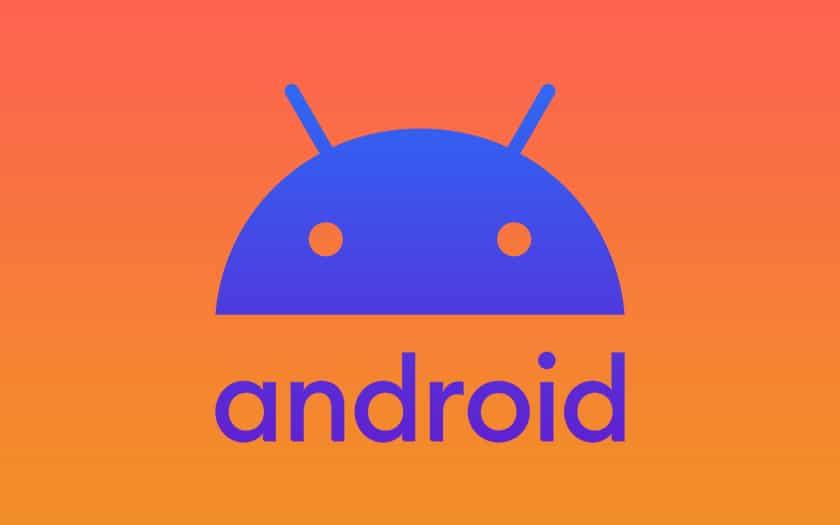 logo android 10 fond coloré
