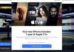 apple tv plus 1 an