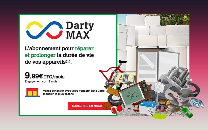 pub darty max et illustration déchets