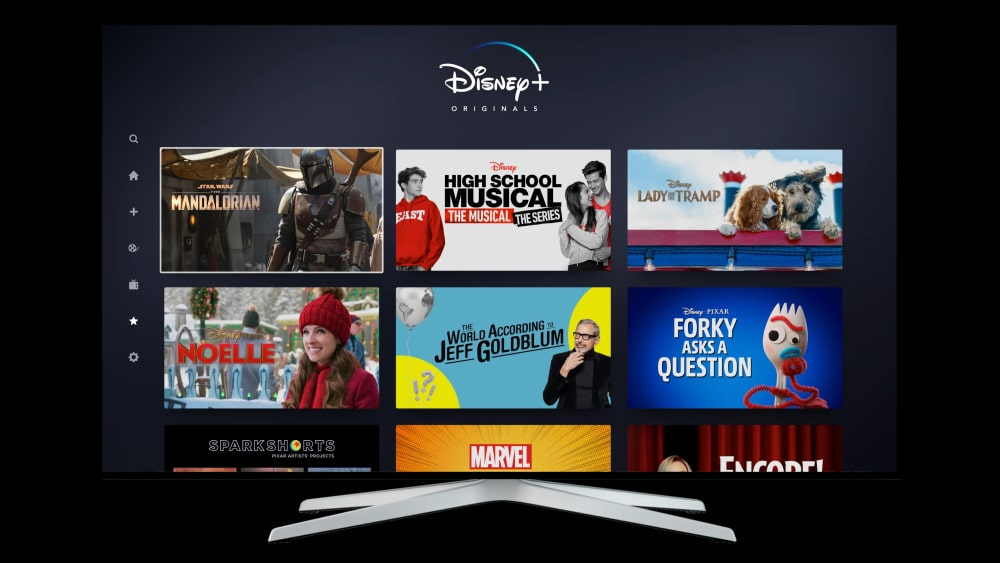 Interface Disney+