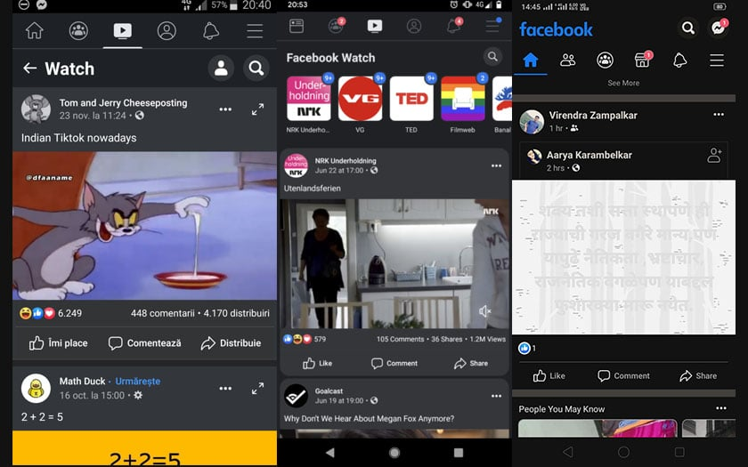 facebook android mode sombre