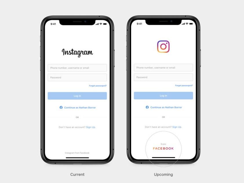 Facebook et Instagram partagent le même logo
