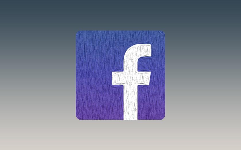fond gris et logo facebook