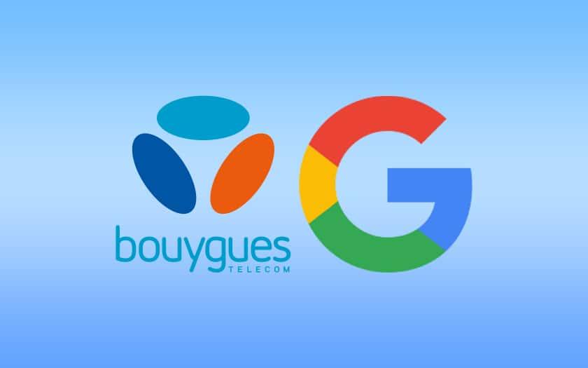 logo google et bouygues telecom