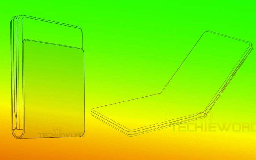 huawei smartphone pliable clapet