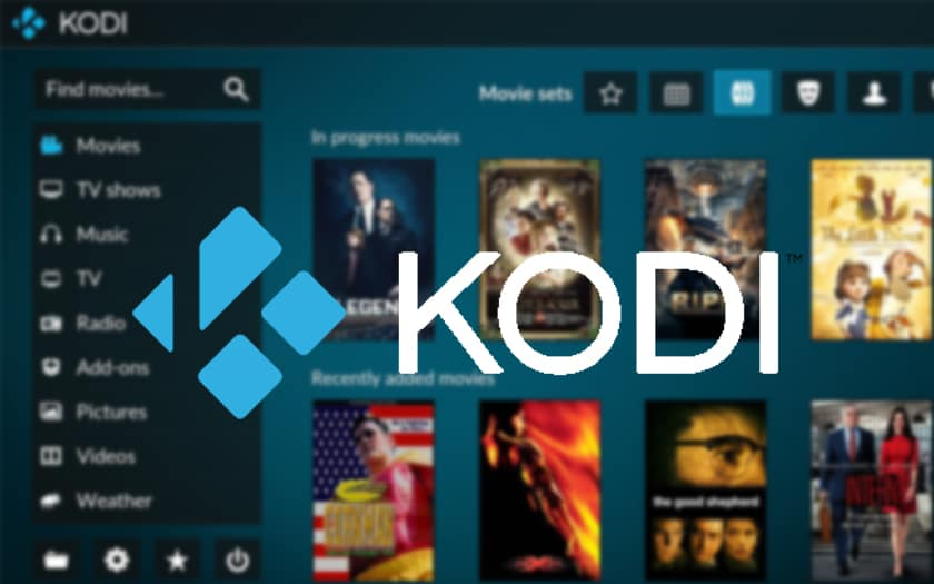 capture d'écran kodi et logo kodi
