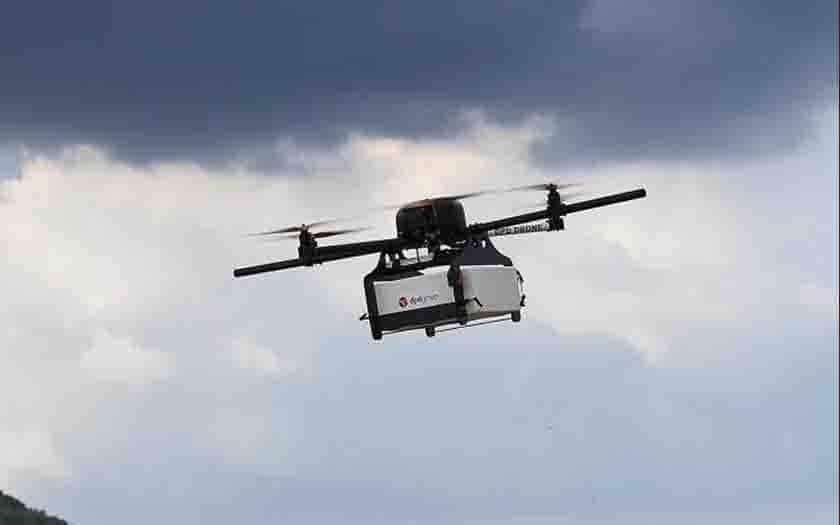 la poste drone livraison montagnes
