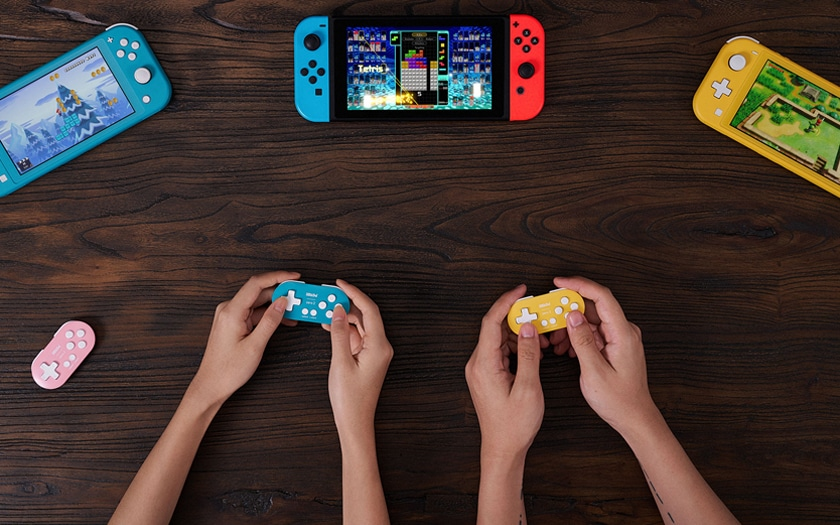 nintendo switch lite et manette zero 2