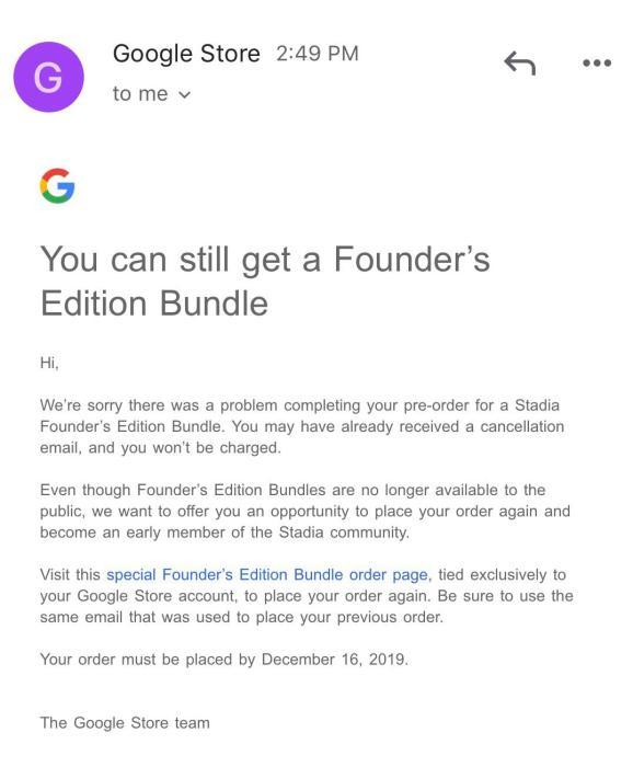 email de google stadia
