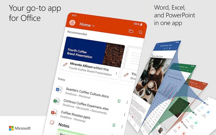 Microsoft Office : Word, Excel et Powerpoint ont une nouvelle application tout-en-un sur Android