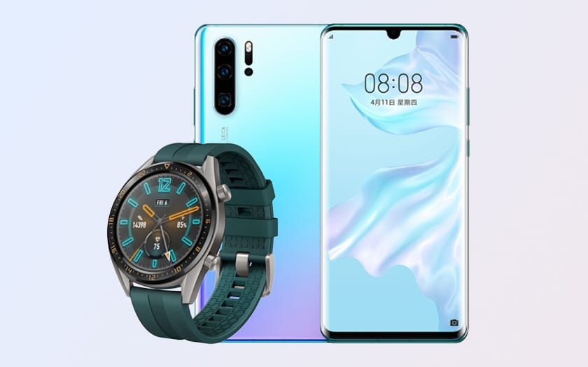 Cyber Monday 2019 sur le pack Huawei P30 Pro lavende + smartwatch Huawei Watch GT Active