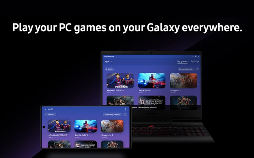 pc et smartphone avec interface PlayGalaxy