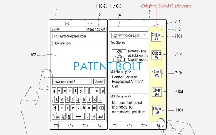 Samsung : smartphone à deux écrans