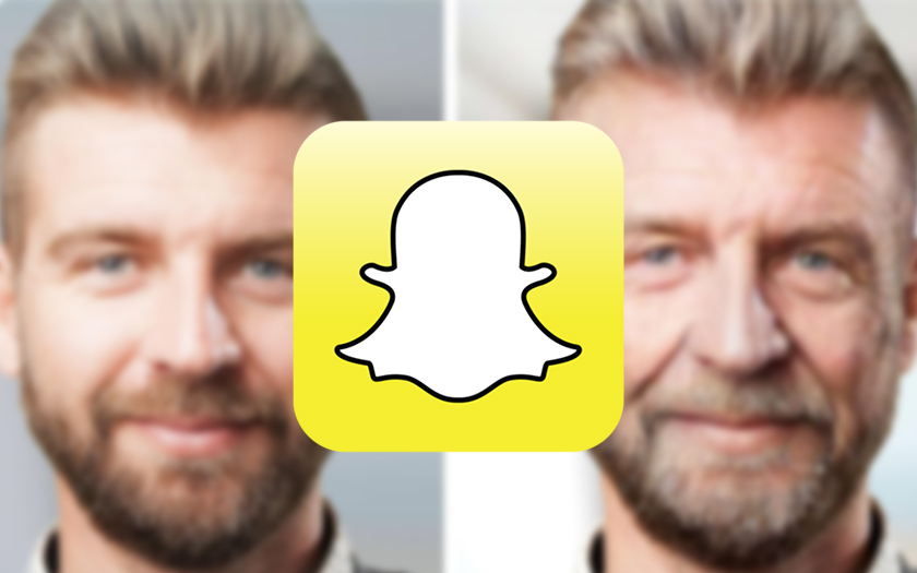 logo snapchat photo filtre vieillissant