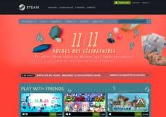 interface steam et main avec de l'argent