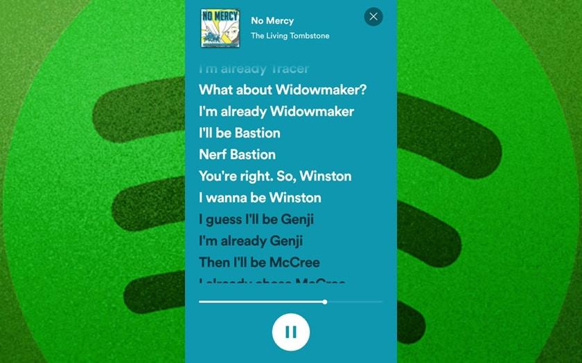 Affichage des paroles dans Spotify